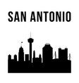 san antonio city simple silhouette vector image vector image