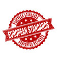 scratched textured european standards stamp seal vector image