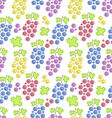 Seamless Pattern with Colorful Bunches of Grape vector image