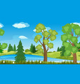 seamless summer landscape vector image