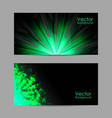 set banners with polygonal background vector image