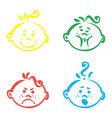 set cute baemoticons very simple but vector image