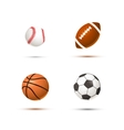 Set of realistic sport balls for soccer vector image