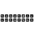 set popular adobe icons products