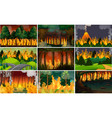 set wild fire background vector image