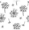 simple seamless pattern with realistic botanical vector image vector image