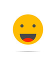 smile face icon vector image vector image