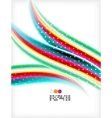 Smooth colorful business elegant wave design vector image vector image