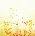 spring with colorful butterflies vector image