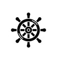 steering wheel black icon sign on isolated vector image vector image
