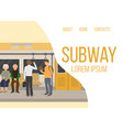 subway inside with people old couple and man vector image