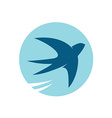 Swallow bird silhouette logo vector image