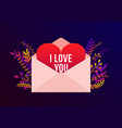 trendy happy valentines day with i love you vector image vector image
