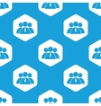 User group hexagon pattern vector image vector image