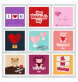 valentines day design typography and card with vector image