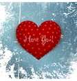 Valentines Day red Heart on Winter Background vector image vector image