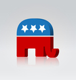 vote elephant vector image