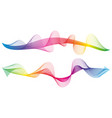 wave of the many colored lines vector image