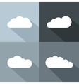 White cloud icons with long shadow vector image