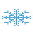 winter snowflake icon isometric style vector image vector image