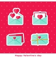 Flat cons Happy Valentine day vector image