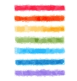 Watercolor rainbow banners vector image