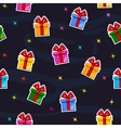 Seamless pattern with Flat gift box sticker vector image