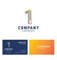 1 company logo design vector image