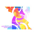 Abstract colorful shape scene on a white