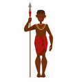 african man warrior tribe member in jewelry with vector image vector image