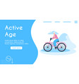 banner active age concept vector image