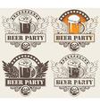 beer hobeer and wings vector image vector image