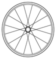 bike wheel isolated on white vector image vector image