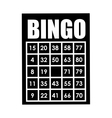 bingo card isolated icon design vector image vector image