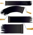 Black Roller Brush on White Background vector image vector image