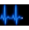 Blue heart beat ekg graph vector | Price: 1 Credit (USD $1)