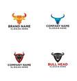 bull logo design vector image vector image