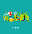 camping greeting card vector image vector image