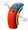 Cartoon eraser raising his hands vector image