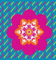 childish design of symmetric flower on colorful vector image vector image