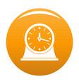 clock vintage icon orange vector image