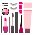 Collection of flat cosmetics vector image vector image