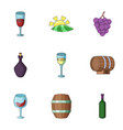 cordial icons set cartoon style vector image vector image