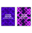 cover design posters with zigzags fashion vector image