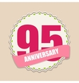 Cute Template 95 Years Anniversary Sign vector image vector image
