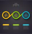 dark infographic design template business vector image vector image