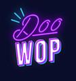 doo wop vintage 3d lettering retro music party