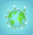 eco earth global concept world vector image vector image