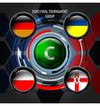 European Flag Buttons C vector image vector image