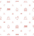 fire icons pattern seamless white background vector image vector image